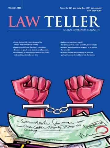 Lawteller – A Legal Awareness Magazine issue October 2015