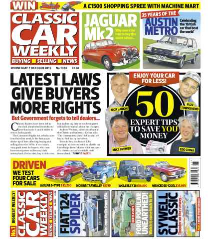Classic Car Weekly issue 7th October 2015