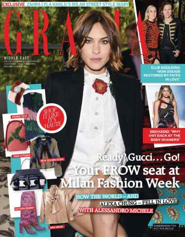 Grazia Middle East issue Milan Fashion Week