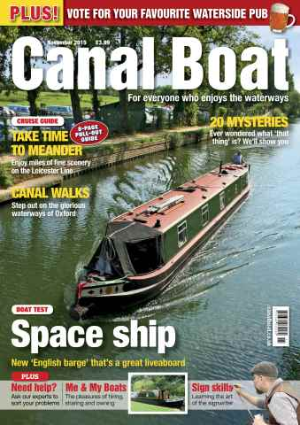 Canal Boat issue November 2015