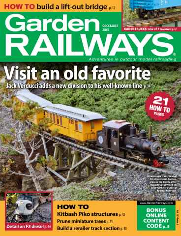Garden Railways issue December 2015