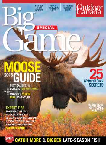 Outdoor Canada issue BIg Game 2015