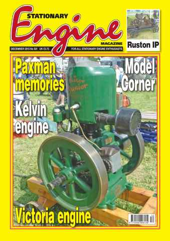 Stationary Engine issue No. 501 Paxman memories