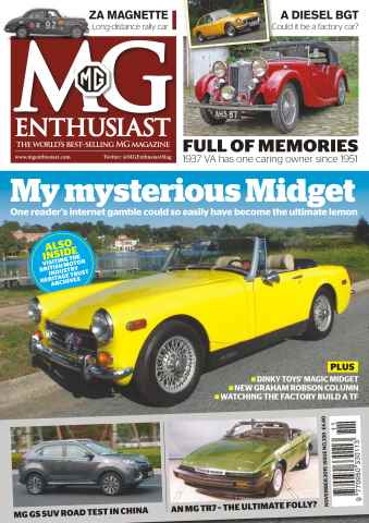 MG Enthusiast issue Vol.45 No. 12 My mysterious Midget