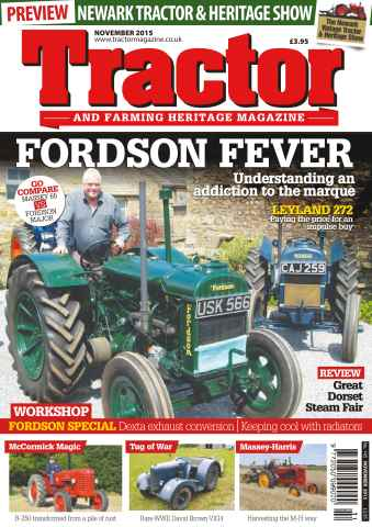 Tractor & Farming Heritage Magazine issue November 2015 Fordson Fever