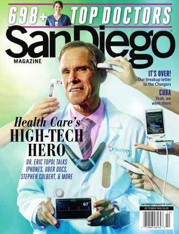 San Diego Magazine issue October 2015