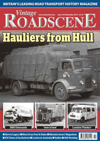 Vintage Roadscene issue No. 192 Hauliers from Hull