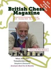 British Chess Magazine issue October 2015