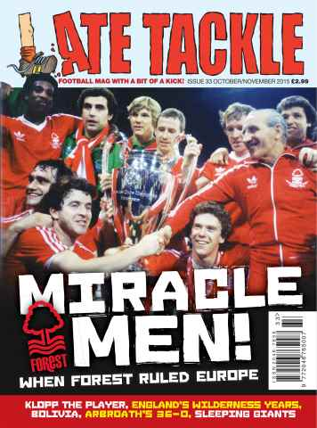 Late Tackle Football Magazine issue October/November 2015