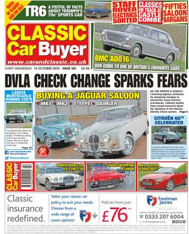 Classic Car Buyer issue No. 300 DVLA Check Change Sparks Fears