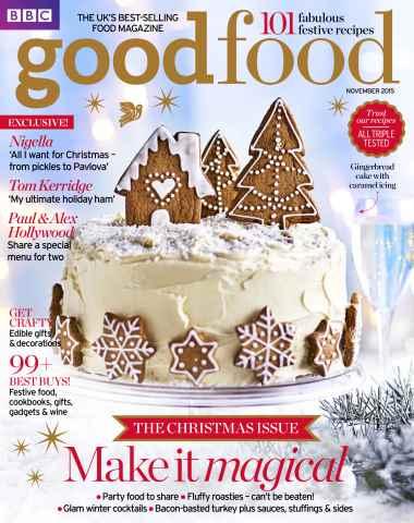 BBC Good Food issue November Christmas 2015