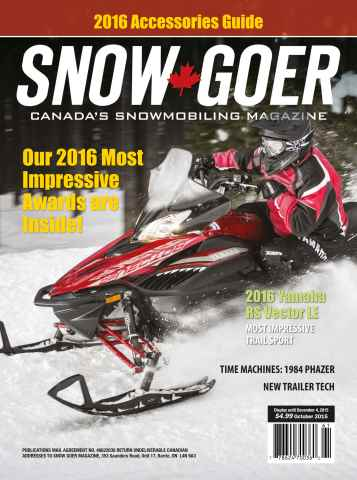 Snow Goer Canada issue 2016 Most Impressive Awards
