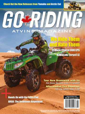 Go Riding ATVing Magazine issue October 2015