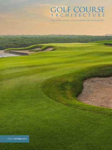 Golf Course Architecture issue October 2015