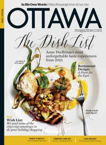 Ottawa Magazine issue Winter 2015