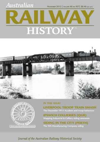 Australian Railway History issue November 2015