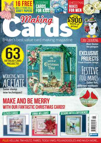 Making Cards issue November 2015