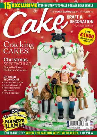 Cake Craft and Decoration Magazine issue December 2015