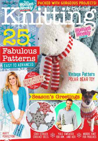 Knitting & Crochet issue December 2015