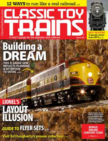 Classic Toy Trains issue January 2016