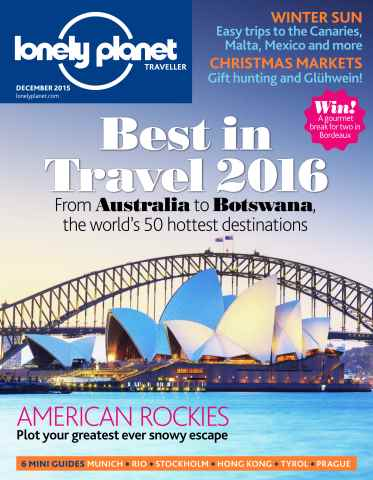 Lonely Planet Traveller issue  December 2015