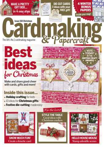 Cardmaking & Papercraft issue Christmas 2015