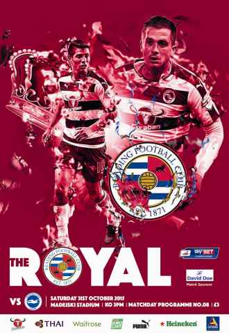 Reading FC Official Programmes issue 8 v Brighton & Hove Albion (15-16)