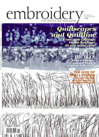 Embroidery Magazine issue November December 2015