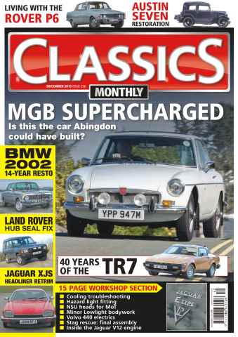 Classics Monthly issue No. 236 MGB Supercharged