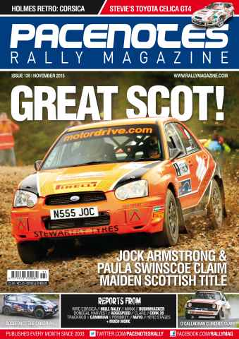 Pacenotes Rally magazine issue Issue 139 - November 2015