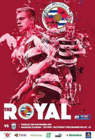 Reading FC Official Programmes issue 9 v Huddersfield Town (15-16)