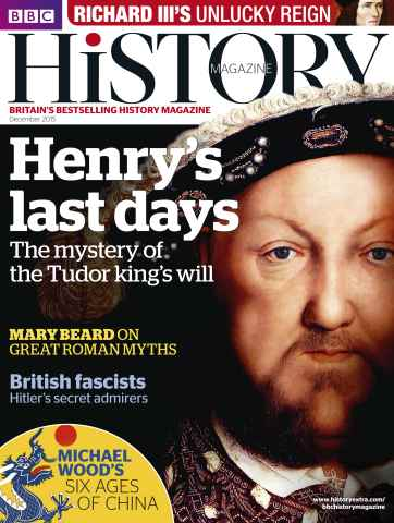 BBC History Magazine issue December 2015