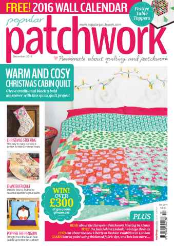 Popular Patchwork Magazine issue December 2015