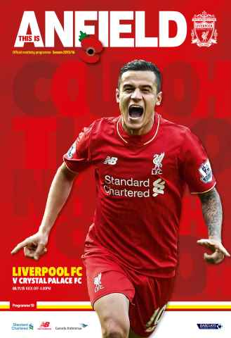 Liverpool FC Programmes issue Crystal P 201516