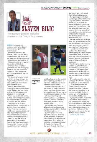 West Ham Utd Official Programmes Preview 5