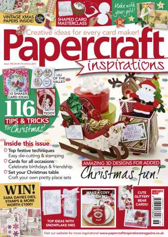 Papercraft Inspirations issue Christmas 2015