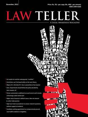 Lawteller – A Legal Awareness Magazine issue November 2015