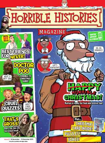 Horrible Histories issue Issue 41 Christmas 2015