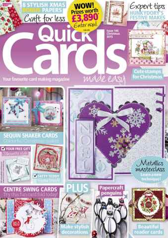 Quick Cards Made Easy issue Christmas 2015