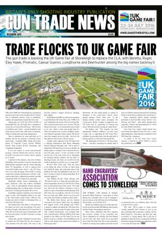Gun Trade News issue GTN December 2015