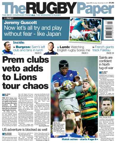 The Rugby Paper issue 8th November 2015