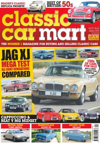 Classic Car Mart issue Vol. 22 No. 1 Jag XJ Mega Test