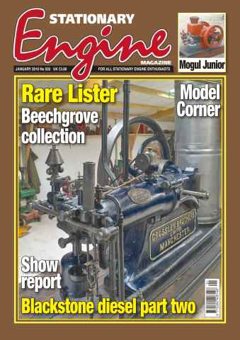 Stationary Engine issue No. 502 Rare Lister