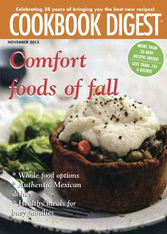 Cookbook Digest issue Fall 2015