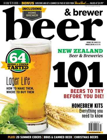 Beer and Brewer issue Summer 2015/16