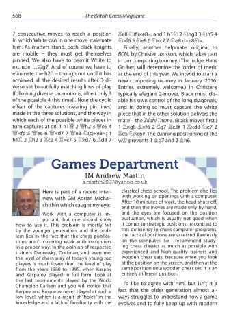 British Chess Magazine Preview 8