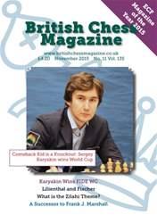 British Chess Magazine issue November 2015
