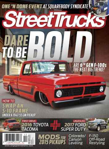 Street Trucks issue December 2015