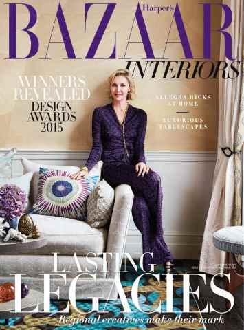 Harpers Bazaar Interiors issue Harper's Bazaar Interiors November/December Issue