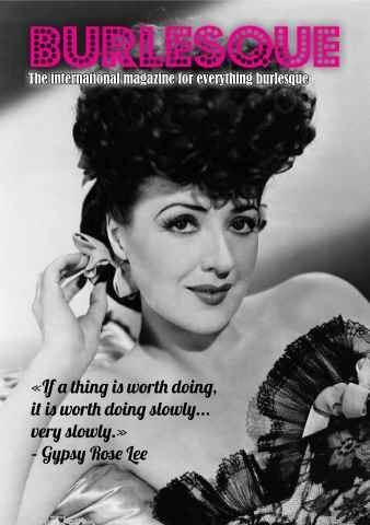 Burlesque Bible issue Special Gypsy Rose Lee mini mag